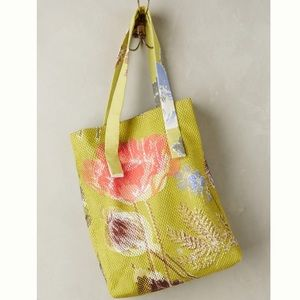 NWT Anthropologie Sungarden Mesh Tote Bag, floral